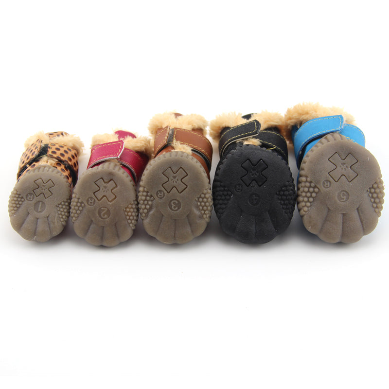 Working Dogs Winter Snow Boots Casual Dog Shoes Pet Shoes for Teddy Bichon Kitten Dachshund Cocker Spaniel Husky German Shepard