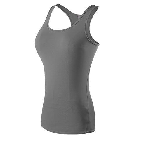 YEL Hot Sexy Fitness Tight Sport Yoga Shirt Quick Dry Sleeveless Sportswear Blouses Running Vest Workout Crop Top Female T-shirt
