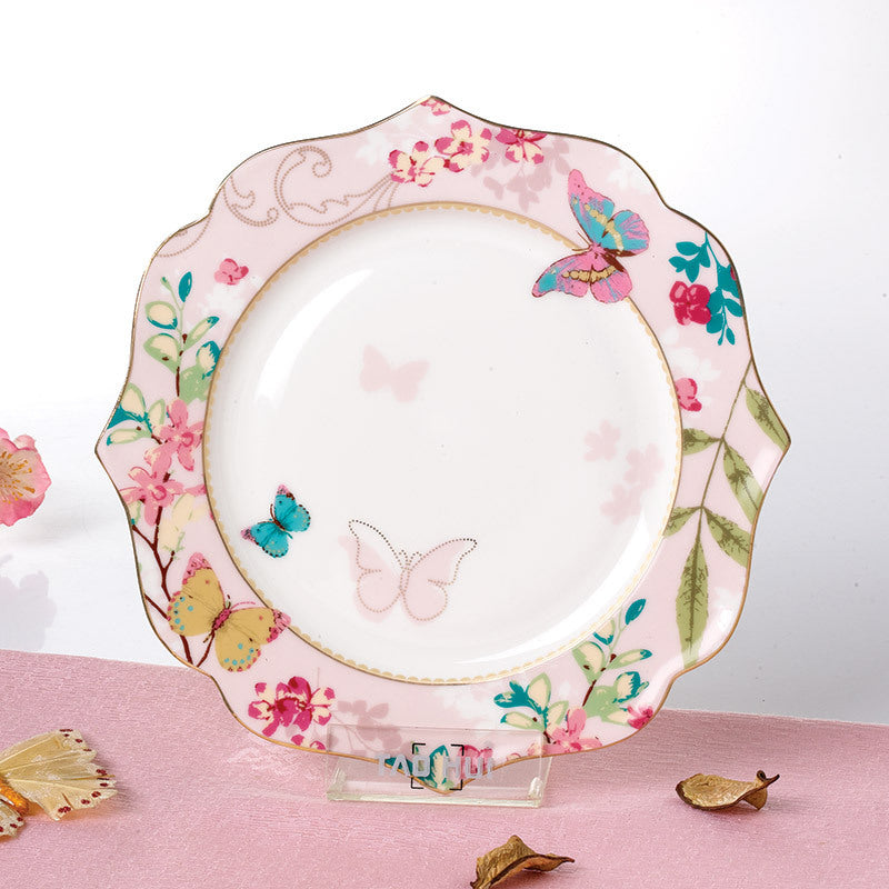 YeFine Ceramic Soup Plate Porcelain Tableware Platter Steak Fruit Dish Dinner Plates Flat Dish Bone China Dinnerware Set