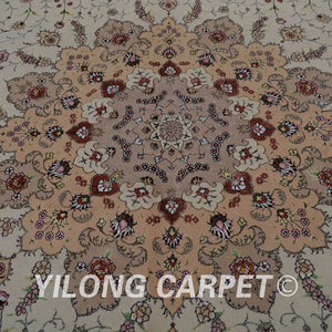 Yilong 10'x14' Persian new zealand wool area rugs handmade exquisite turkish wool silk carpet (1505)
