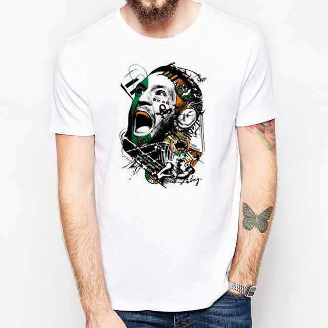 conor mcgregor t shirt men fashion tshirt punk rock clothing short sleeve men tee shirts cool male t-shirt anime man tops
