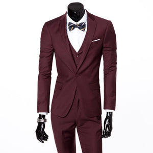 (jacket+pants+tie) 2017 Custom made Mens Light Grey Suits Jacket Pants Formal Dress Men Suit Set men wedding suits groom tuxedos