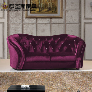 new design luxury moroccan lip shape dark purple china furniture classic fabric round sofa set 7 seater in fabric cloth OCS-F32