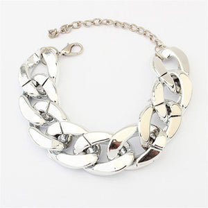 2016 European and American Hign Quality Simple Big Crude Chain Design Fashion Bracelet For Women