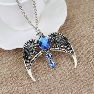 New Fashion Harry Potter Ravenclaw Eagles Lost Crown Necklace Retro Magic Wholesale&Retail