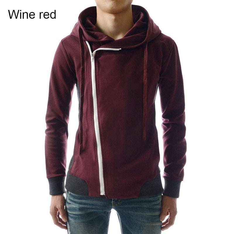 New 2016 Fashion Men Hoodies Casual Oblique Zipper Brand Hoodie Mens Hooded Jackets Men Sweatshirt