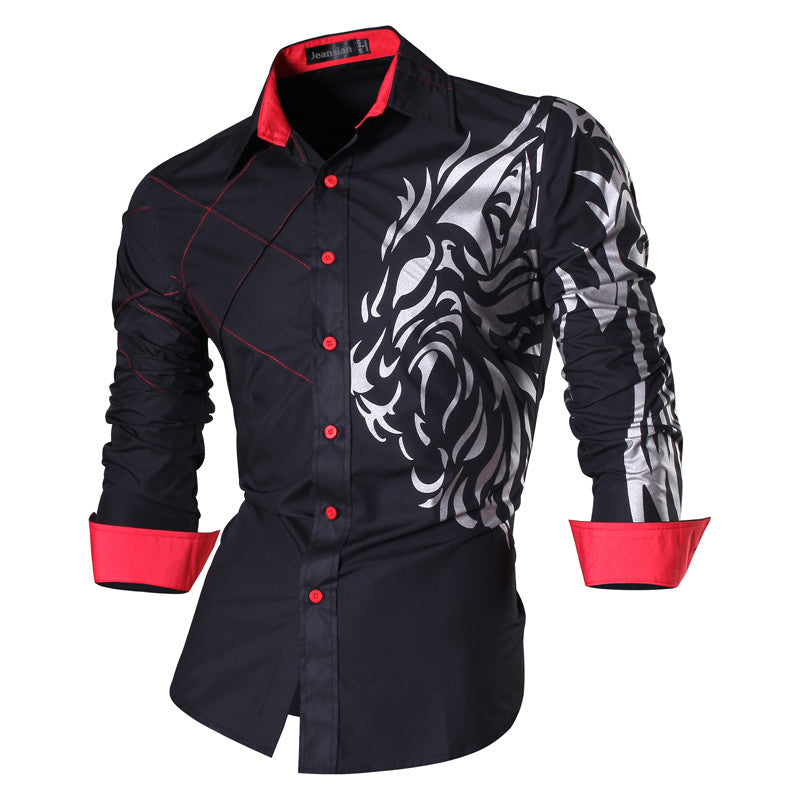 2017 Spring Autumn Features Shirts Men Casual Jeans Shirt New Arrival Long Sleeve Casual Slim Fit Male Shirts Z030