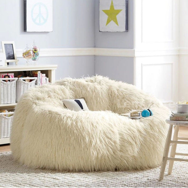 LEVMOON Lounger Size Bean Bag Cover Sofa Chairs seat living room furniture  Without Filling Beanbag Beds lazy seat zac f93f8b53a2945