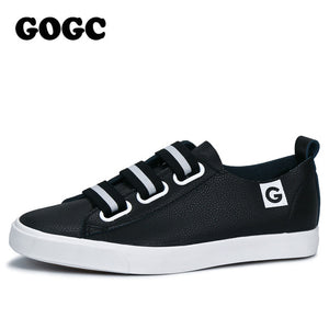 GOGC 2017 Women Flat Shoes Breathable Ladies Leather Shoes Spring Creepers Casual Slip on Women Shoes Walking Shoe Slipony Women