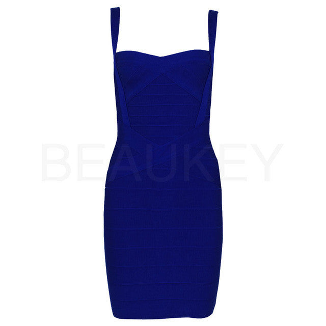 Rayon Spaghetti Strap 2016 Sweetheart Neckline High Quality Sexy Women Bodycon Bandage Dresses Wholesale Cheap  XL