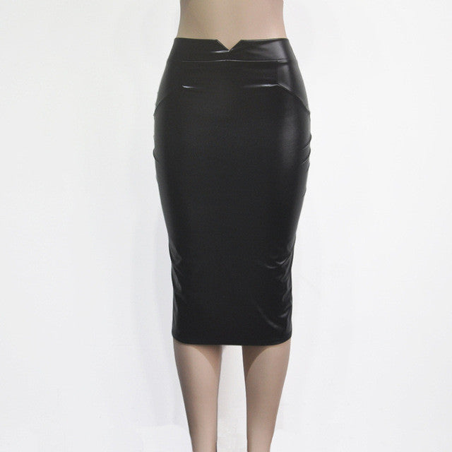 DeRuiLaDy Autumn Winter Skirt Womens Fashion Wild Plus Velvet Leather Skirts Vintage Mini Sexy Nightclub Black Pencil Skirt