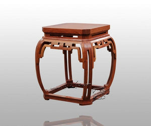 Bamboo Stool with Square Wipe-Corner Grain Classical Burma rosewood Chinese Furniture Living Room Leisure Chair Redwood Bench