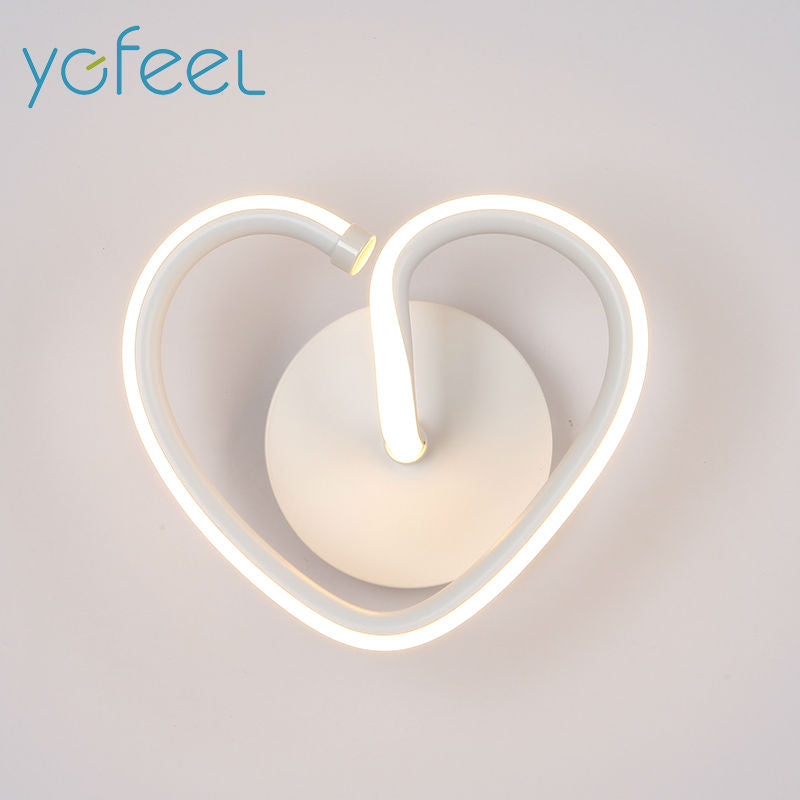 [YGFEEL] 13W LED Wall Light Creative  Heart-shaped Bedroom Wall Lamp Indoor Living Room Foyer Decoration Corridor Stair Lighting