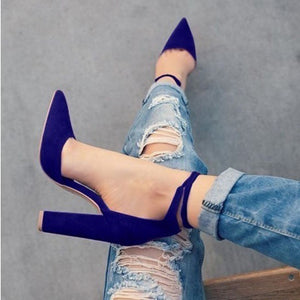 spring summer platform sexy women shoes fashion women pumps retro high heels pointed toe office & career shallow #Y0605718Q