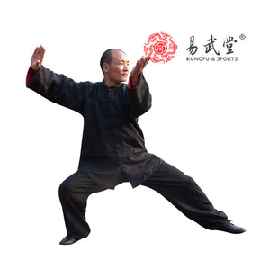 [yiwutang] 98% washed linen double face tai chi uniform, kung fu suit and wu shu clothing