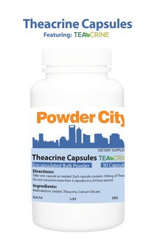 30 cápsulas con 100 mg de Teacrina - Powder City