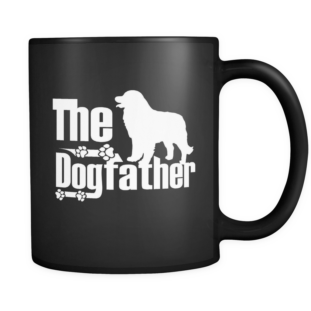 Great Pyrenees Lover Gifts The Dogfather 11oz Black Coffee Mug -Pyrenean Mountain Dog Pet Owner Rescue Gift