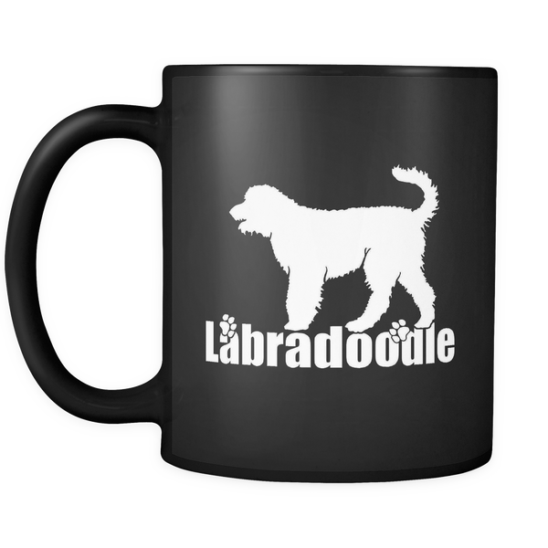 Labradoodle Paw Lover Gifts 11oz Black Coffee Mug - Labradoodle Pet Owner Rescue Gift