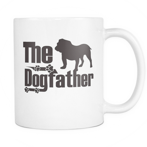 The Dogfather - Bulldog 11oz White Mug
