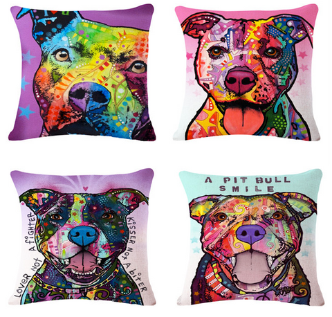 Pit Bull Pillow Covers FREE- Only Pay Shipping!