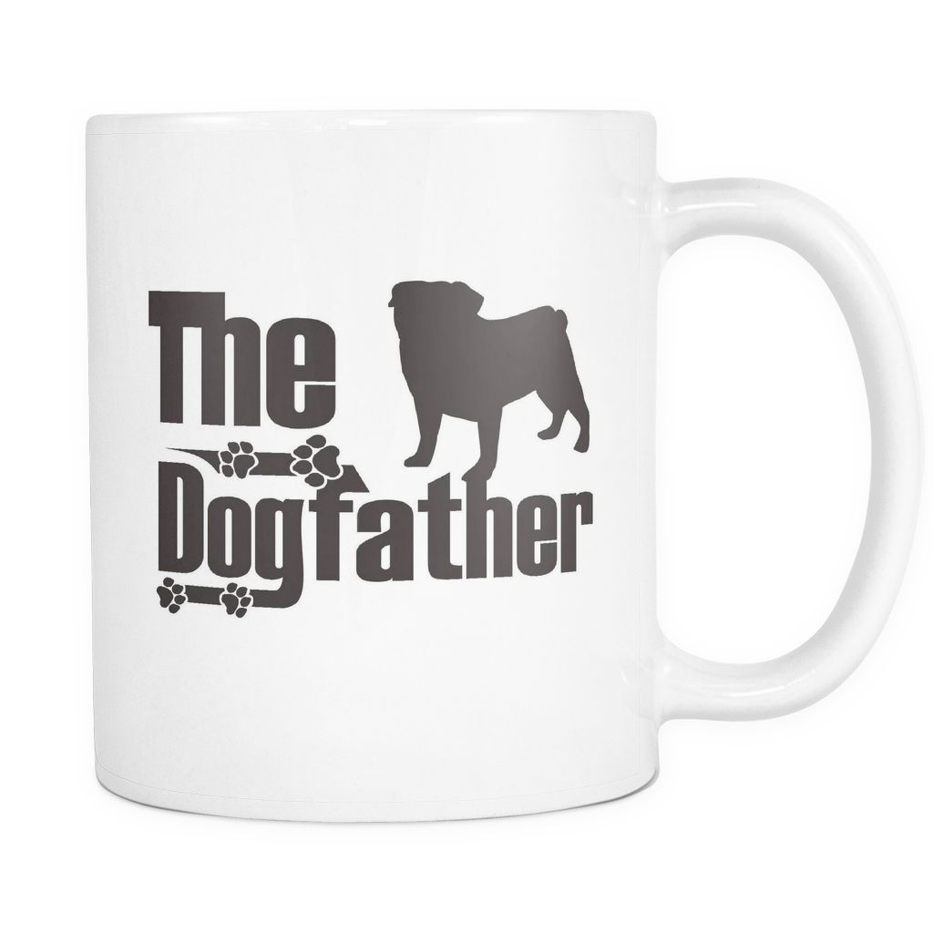 Pug Lover Gifts The Dogfather 11oz White Coffee Mug
