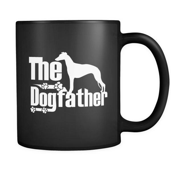 Whippet Lover Gifts The Dogfather 11oz/15oz White/Black Coffee Mug - Whippet Pet Owner Rescue Gift
