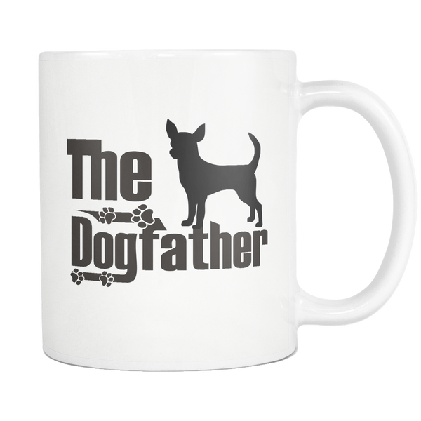 Chihuahua Lover Gifts The Dogfather 11oz White Coffee Mug