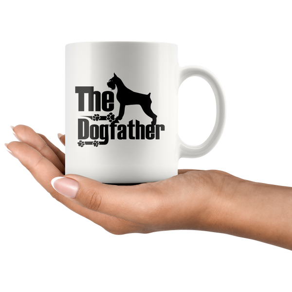 Schnauzer Lover Gifts The Dogfather 11oz White Coffee Mug
