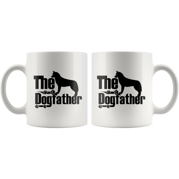 Siberian Husky Lover Gifts The Dogfather 11oz White Coffee Mug