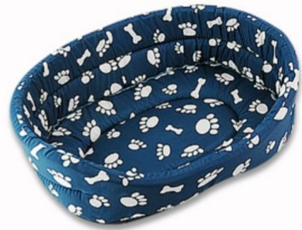 Winter Warm Blue Dog Bed -Small