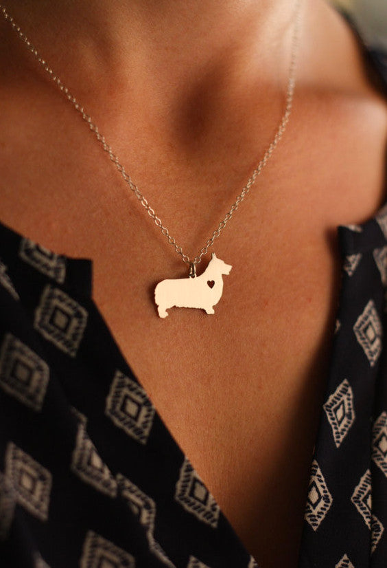 Pembroke Welsh Corgi Pendant and Necklace - FREE Shipping