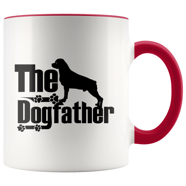 Rottweiler Lover Gifts The Dogfather 11oz Assorted Color Coffee Mug