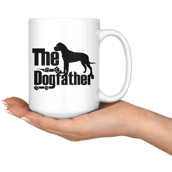 Bullmastiff Lover Gifts The Dogfather 15oz White Coffee Mug