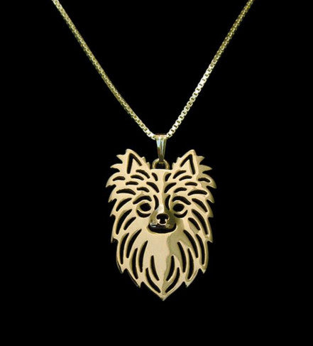 "Handmade Short & Long Haired Chihuahua Sterling Silver/18 Gold Pendant and 18"" Necklace - FREE - Just Pay Shipping!"