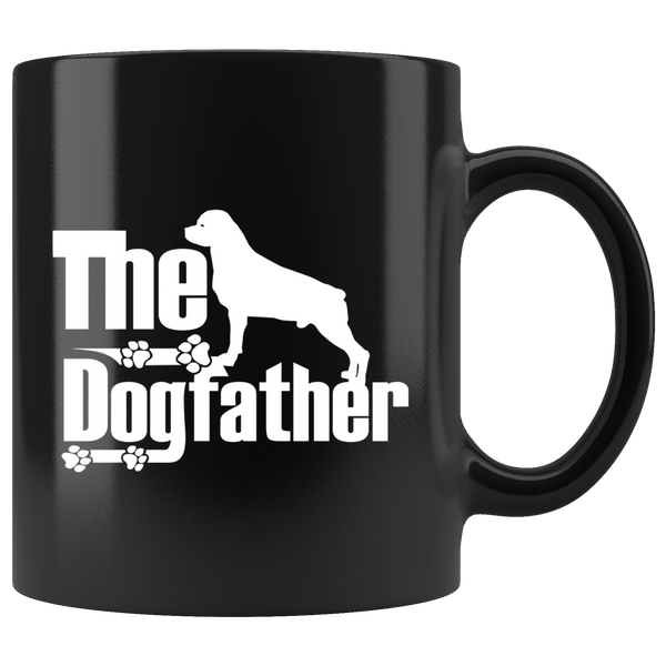 Rottweiler Lover Gifts The Dogfather 11oz Black Coffee Mug