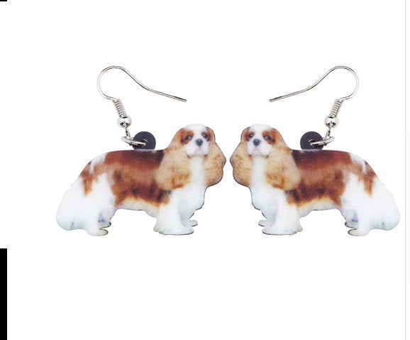 Cavalier King Charles Spaniel Jewelry -Cavalier King Charles Spaniel Necklace- Cavalier King Charles Spaniel Earrings - FREE Shipping