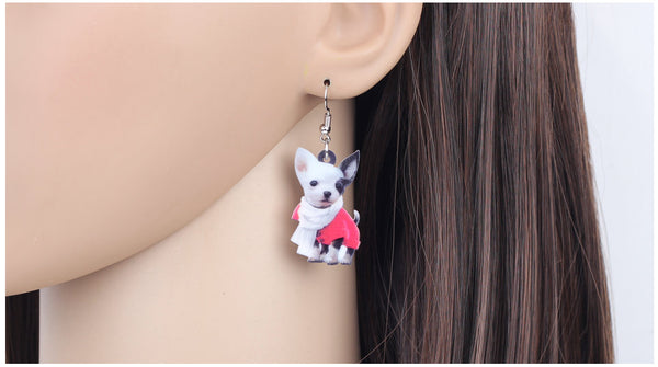 Chihuahua Jewelry - Chihuahua Necklace- Chihuahua Art - Chihuahua Earrings - FREE Shipping