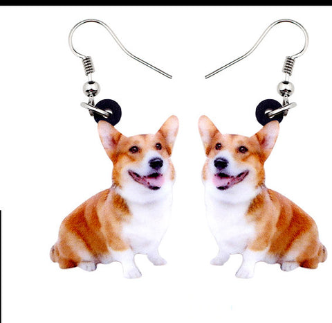 Pembroke Welsh Corgi Jewelry - Pembroke Welsh Corgi Necklace- Pembroke Welsh Corgi Art - Pembroke Welsh Corgi Earrings - FREE Shipping