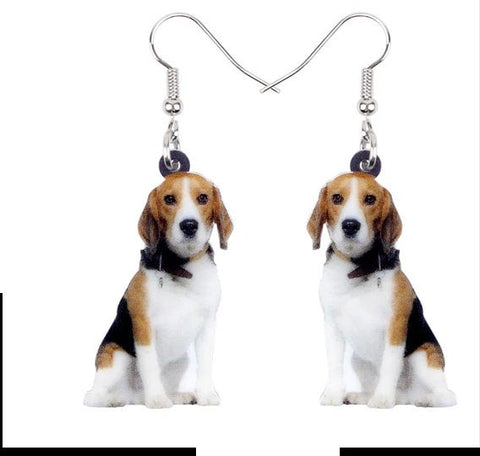 Beagle Jewelry - Beagle Necklace- Beagle Art - Beagle Earrings - Beagle Gifts - FREE Shipping