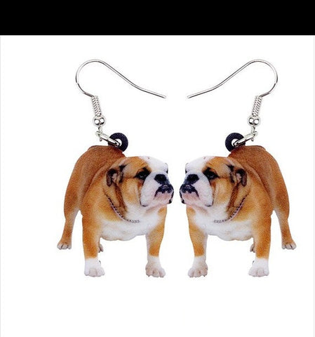 English Bulldog Jewelry - English Bulldog Necklace- English Bulldog Earrings - English Bulldog Gifts - Bulldog Keychain FREE Shipping