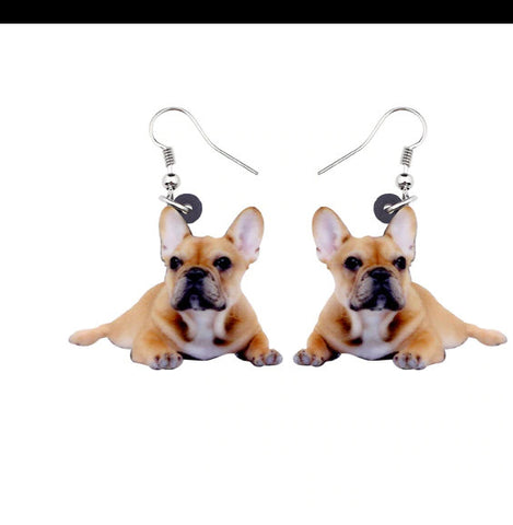 French Bulldog Jewelry - French Bulldog Necklace- French Bulldog Earrings - French Bulldog Gifts - French Bulldog Keychain FREE Shipping