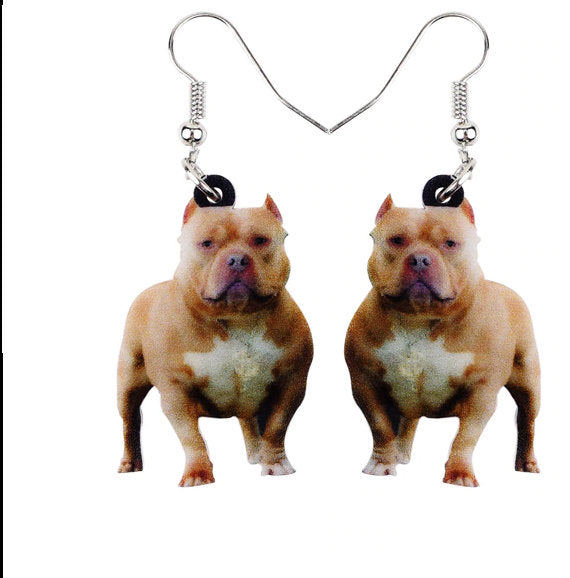 Pit Bull Jewelry - Pit Bull Necklace- Pit Bull Art - Pit Bull Earrings - Pit Bull Gifts - FREE Shipping