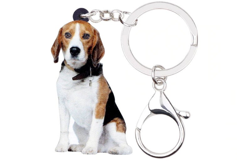 Beagle Keychain - Beagle Necklace- Beagle Jewelry - Beagle Earrings - FREE Shipping