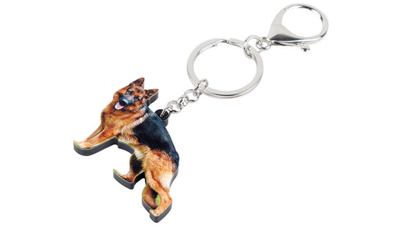 German Shepherd Keychain - German Shepherd Necklace- German Shepherd Jewelry - German Shepherd Earrings - FREE Shipping