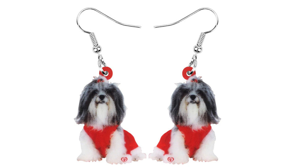 Shih tzu Jewelry - Shih tzu Necklace- Shih tzu Art - Shih tzu Earrings - FREE Shipping