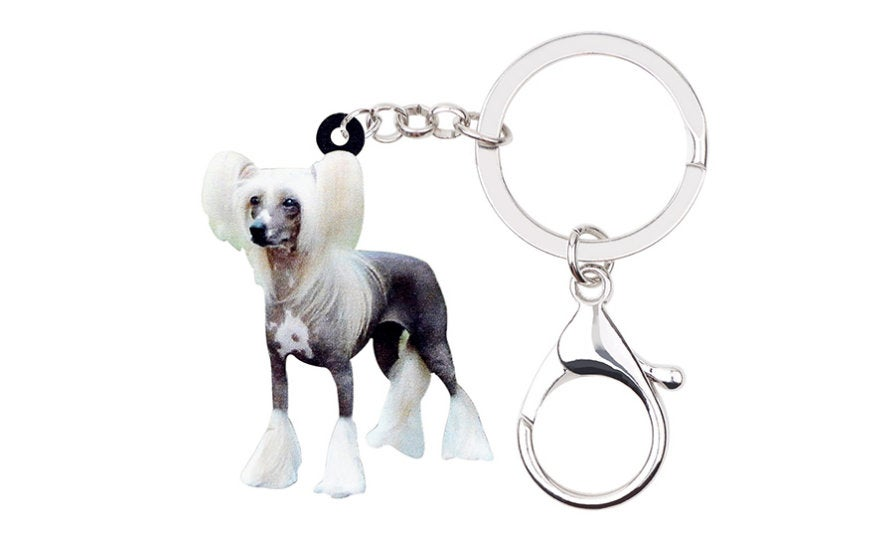 Chinese Crested Keychain - Chinese Crested Necklace- Chinese Crested Jewelry - Chinese Crested Earrings - FREE Shipping