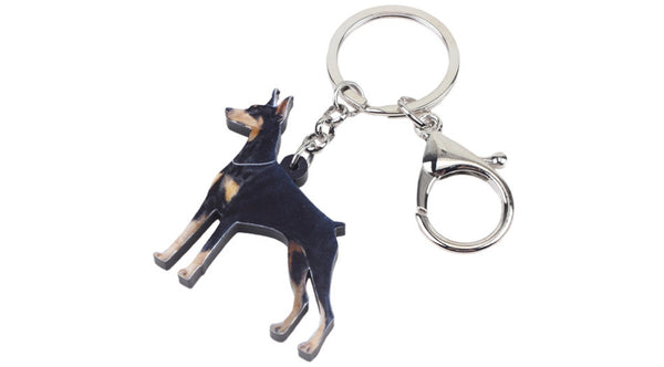 Doberman Keychain - Doberman Pinscher Necklace- Doberman Pinscher Jewelry - Doberman Pinscher Earrings - FREE Shipping