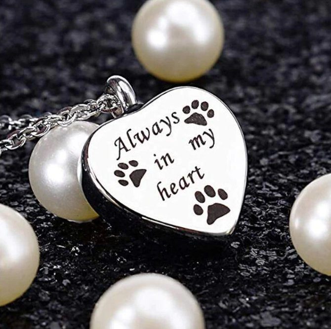Pet Urn Necklace - Dog Urn Necklace -Pet Ash Holder - Pet Keepsake -Urn for Ashes -Memorial Jewelry -Urn Necklace