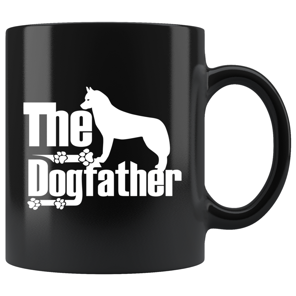 Siberian Husky Lover Gifts The Dogfather 11oz Black Coffee Mug