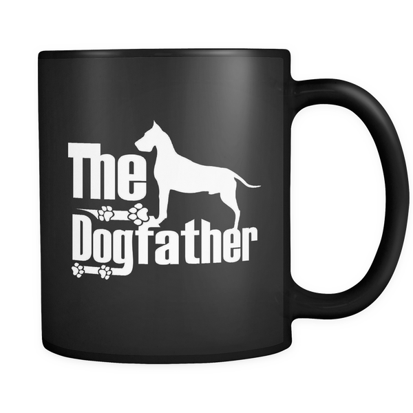 Great Dane Lover Gifts The Dogfather 11oz Black Coffee Mug - Great Dane  Pet Owner Rescue Gift